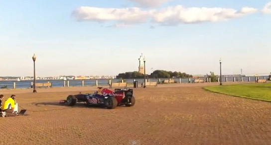 red bull singer Red Bull F1 Car Plays U.S. National Anthem