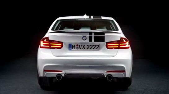 BMW 3 Series. BMW M Performance 2 at BMW 3 Series M Performance Parts Teaser