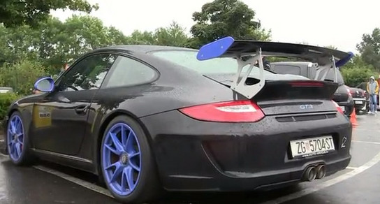 GT3 akra Porsche GT3 With Akrapovic Exhaust Sings Tenor