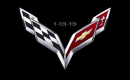 2014 Corvette Logo at 2014 Corvette C7 First Teaser Video