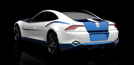 at Fisker Karma at 2012 SEMA