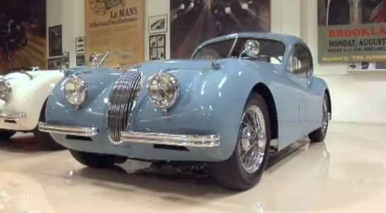 1954 Jaguar XK120M at Jay Leno Shows Off His 1954 Jaguar XK120M