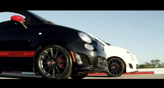 500 Abarth Cabrio teaser 2 at Fiat 500 Abarth Cabrio Teaser With Massa and Alonso