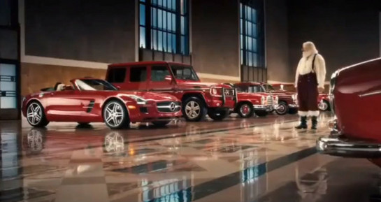 Cadillac commercial christmas autos post for Mercedes benz christmas commercial