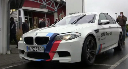 BMW M5 Ring Taxi at Up Close With BMW M5 Ring Taxi   Video