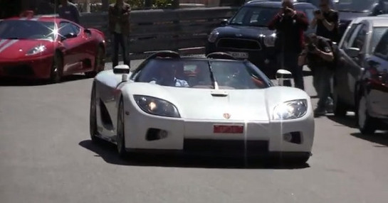 CCX play at Watch A Koenigsegg CCX Play Around Monte Carlo