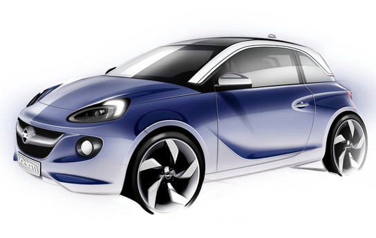 opel adam convertible to bow at 2013 geneva motor show. Black Bedroom Furniture Sets. Home Design Ideas