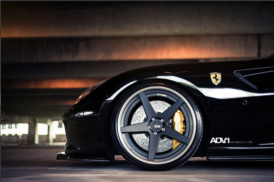 Blacked Out Ferrari 599 On Adv1 Track Spec Wheels