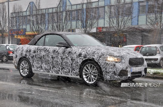 bmw 2 series spy 1 at BMW 2 Series Convertible Scooped