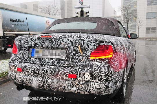 bmw 2 series spy 2 at BMW 2 Series Convertible Scooped