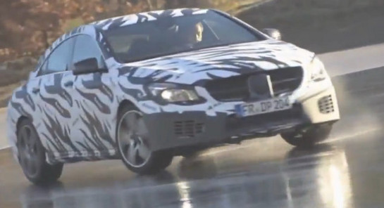 cla45 AMg teaser at 2013 Mercedes CLA 45 AMG Teased In Video