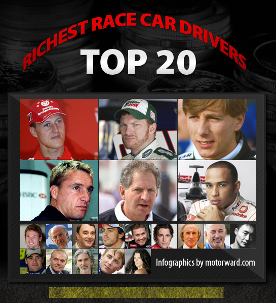 top 20 richest race drivers small at Top 20 Richest Race Car Drivers