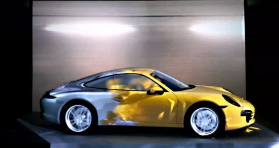911 Projection 545x290 at Must Watch: Awesome Porsche 911 Projection Show