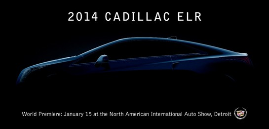 at 2014 Cadillac ELR Teased For Detroit Debut