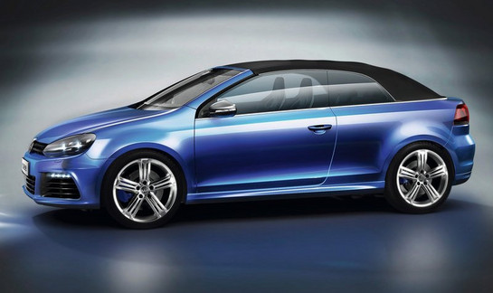 Golf R Cab 1 at VW Golf R Cabriolet Revealed In Video
