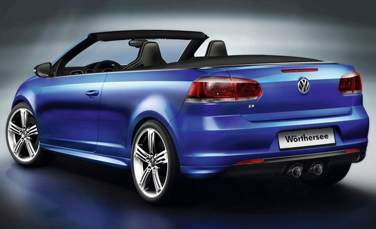 Golf R Cab 2 at VW Golf R Cabriolet Revealed In Video