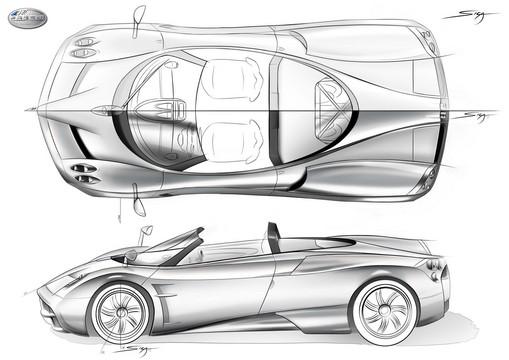 Renderings Pagani Huayra Roadster