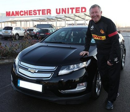 Sir Alex Ferguson Chevy Volt at Sir Alex Ferguson Gets A Free Chevy Volt, Loves It