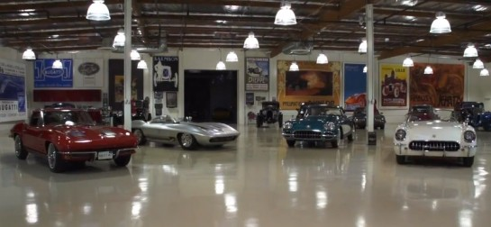 Vintage Corvettes 545x252 at Collection of Vintage Corvettes at Jay Lenos Garage   Video