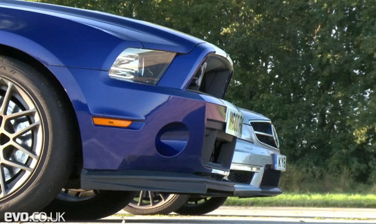 shelby vs amg at Evo Pits Shelby GT500 Against Mercedes C63 AMG   Video