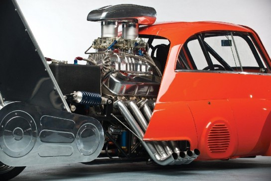 1959 BMW Isetta 4 545x364 at 1959 BMW Isetta Dragster with Chevy V8 Engine