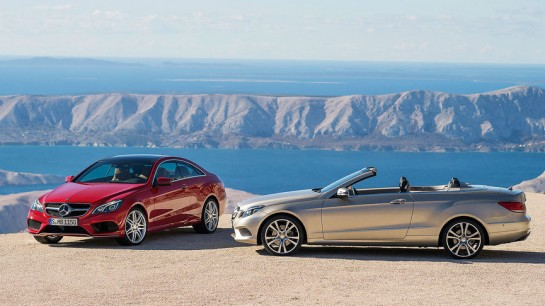 2014 E Class Coupe and Cabrio 1 545x306 at 2014 Mercedes E Class Coupe and Cabrio Unveiled