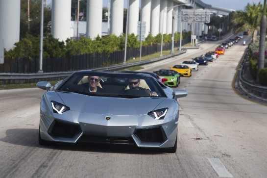 Aventador Roadster 2 545x363 at Lamborghini Aventador Roadster Takes Over Miami Airport
