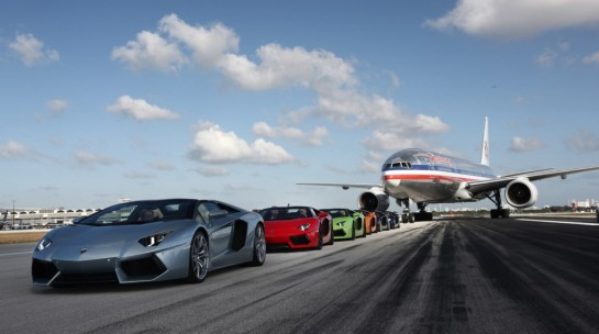 Aventador Roadster Miami 545x304 at Lamborghini Aventador Roadster Takes Over Miami Airport