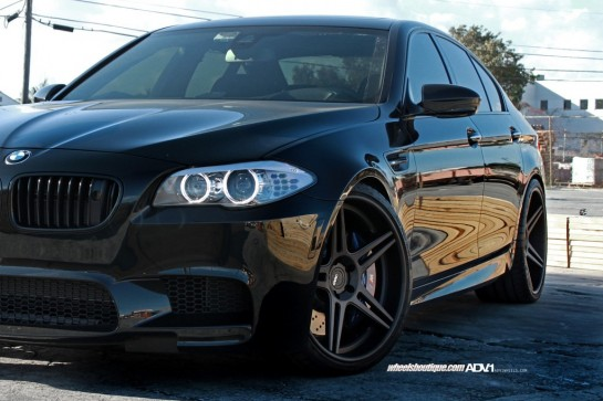 BMW M5 on ADV1 Wheels 2 545x363 at Blacked out BMW M5 on ADV1 Wheels