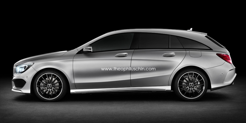 renderings mercedes cla shooting brake. Black Bedroom Furniture Sets. Home Design Ideas