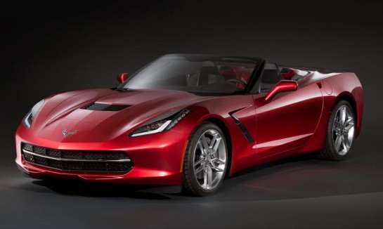 Corvette Singray Convertible Leaked 1 545x326 at Already? 2014 Corvette Stingray Convertible Leaked