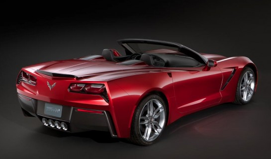 Corvette Singray Convertible Leaked 2 545x320 at Already? 2014 Corvette Stingray Convertible Leaked