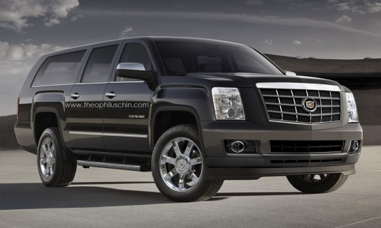 Escalade Render 2 545x327 at Rendering: New Cadillac Escalade