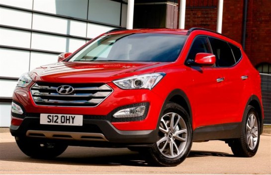 Hyundai Santa Fe 545x353 at Hyundai Santa Fe Named Safest 4x4 in 2012