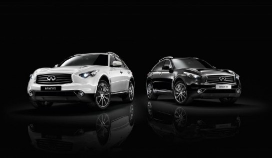 Infiniti FX Black and White Edition 1 545x318 at Infiniti FX Black and White Edition Revealed