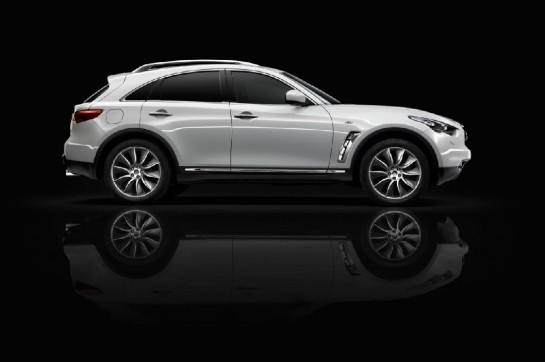 Infiniti FX Black and White Edition 2 545x362 at Infiniti FX Black and White Edition Revealed