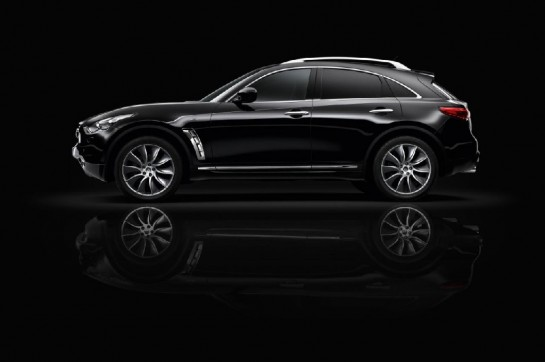 Infiniti FX Black and White Edition 3 545x362 at Infiniti FX Black and White Edition Revealed