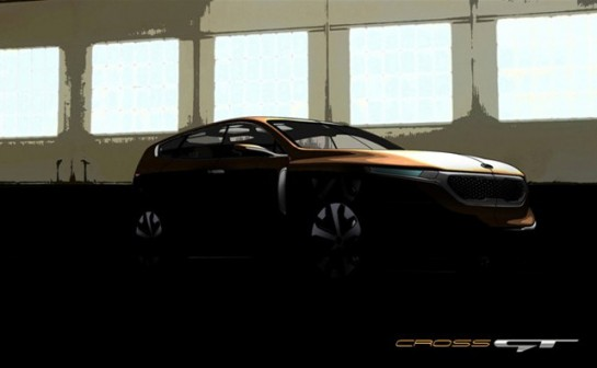 Kia Cross GT Concept 545x336 at Kia Cross GT Concept Teased for Chicago Debut
