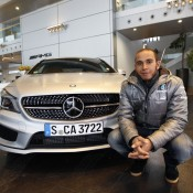 Lewis Hamilton at AMG 175x175 at Ferrari to Unveil 2013 F1 Car on February 1