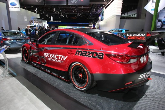 Mazda6 Skyactiv D Race Car 2 545x363 at NAIAS 2013: Mazda6 SKYACTIV D Race Car