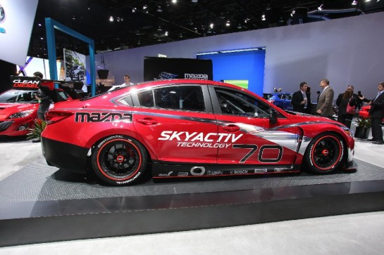 Mazda6 Skyactiv D Race Car 3 545x363 at NAIAS 2013: Mazda6 SKYACTIV D Race Car