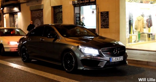 Mercedes CLA 545x288 at Scooped: First Mercedes CLA on the Road