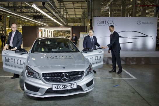 Mercedes CLA Production 545x363 at Mercedes CLA Production Begins in Hungary
