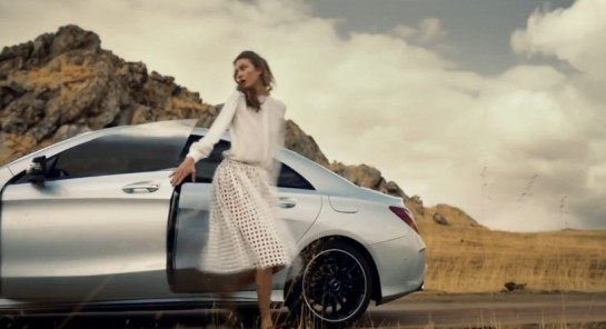 Mercedes CLA Promo FIlm 545x296 at Mercedes CLA Promo Film featuring Karlie Kloss