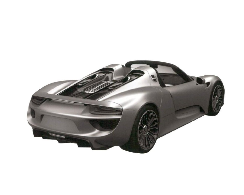 porsche 918 trademark photos leaked. Black Bedroom Furniture Sets. Home Design Ideas