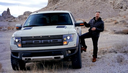 Raptor in Mojave 545x314 at Video: Touring Mojave Desert in a Ford SVT Raptor