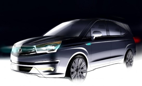 Ssangyong Rodius Facelift 1 545x332 at Redesigned SsangYong Rodius Teased
