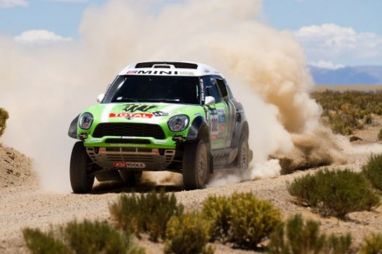 X raid MINI Dakar 1 545x363 at MINI ALL4 Racing Victorious at Dakar Rally 2013