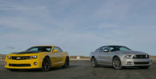 camaro vs mustang h2h 545x276 at Muscle Car Showdown: Camaro 1LE vs Mustang GT