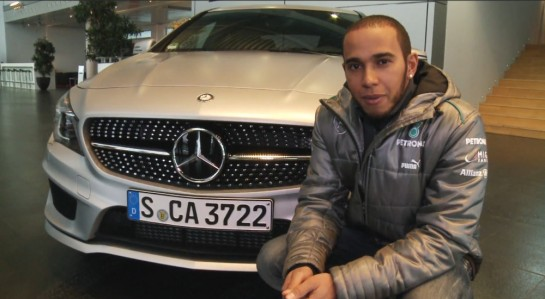 hamilton cla interview 545x299 at Lewis Hamilton Tests Mercedes CLA, Talks F1